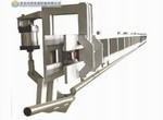 Step conveyor for cattle carcass processing plant